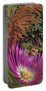 Purple Flower Abstract Portable Battery Charger