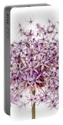 Purple Flowering Onion Portable Battery Charger