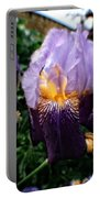 Purple Flowers In England Portable Battery Charger by Doc Braham