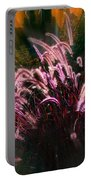 Purple Fountain Grass Fantasy Portable Battery Charger