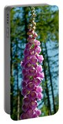 Purple Foxglove Stem Portable Battery Charger