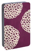 Purple Garden Bloom Portable Battery Charger by Linda Woods