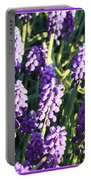 Purple Grape Hyacinth  Portable Battery Charger