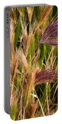 Purple Grasses Portable Battery Charger