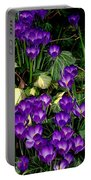 Purple Hearts Portable Battery Charger