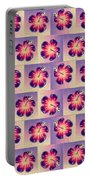 Purple Hibiscus Pattern Portable Battery Charger