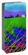 Purple Hills Portable Battery Charger by John  Nolan
