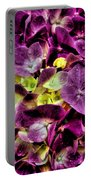 Purple Hortensia After Summer Rain Portable Battery Charger