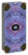 Purple Hydrangea Flower Abstract Portable Battery Charger