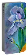 Purple Iris Blues Portable Battery Charger