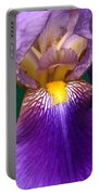 Purple Iris Flower  Portable Battery Charger