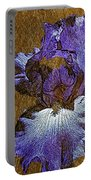 Purple Iris Gold Leaf Portable Battery Charger