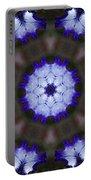 Purple Iris Kaleidoscope Portable Battery Charger