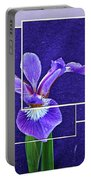Purple Iris Montage Portable Battery Charger