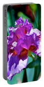Purple Iris Opens Portable Battery Charger