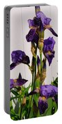 Purple Iris Stalk Portable Battery Charger