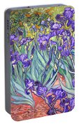 Purple Irises Portable Battery Charger