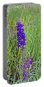 Purple Larkspur In A Meadow In Yellowstone National Park-wyoming Portable Battery Charger