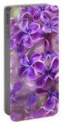 Purple Lilacs Portable Battery Charger