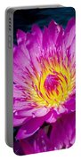 Purple Lily On The Water Portable Battery Charger
