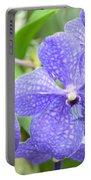 Purple Mokara Orchid Portable Battery Charger