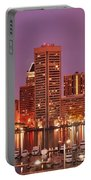 Purple Night In Baltimore Portable Battery Charger