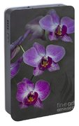 Purple Orchid Flower Portable Battery Charger