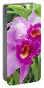 Purple Cattleya Orchids Portable Battery Charger