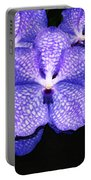 Purple Orchids - Flower Art By Sharon Cummings Portable Battery Charger