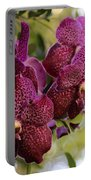 Purple Orchids With Bokeh Portable Battery Charger