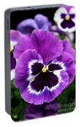 Purple Pansy Close Up Portable Battery Charger