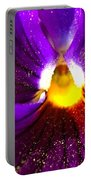 Purple Pansy Detail Portable Battery Charger