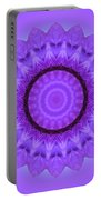 Purple Pansy Kaleidoscope Portable Battery Charger