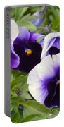 Purple Pansy Melody Portable Battery Charger