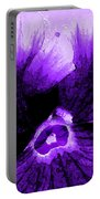 Purple Pansy Rising Portable Battery Charger