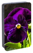 Purple Pansy Portable Battery Charger