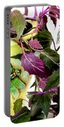 Purple Passion And Dragonfly Pot Portable Battery Charger