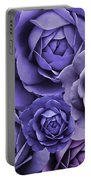 Purple Passion Rose Flower Abstract Portable Battery Charger