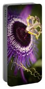 Purple Passion Flower Portable Battery Charger