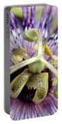 Purple Passion Flower Close Up  Portable Battery Charger