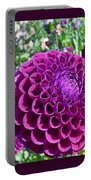 Purple Perfection Dahlia Flower Portable Battery Charger