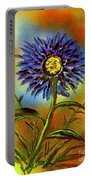 Purple Petals Portable Battery Charger