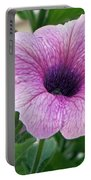 Purple Petunia  Portable Battery Charger
