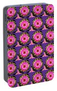 Purple Pink Flower Pattern Decoration Background Designs  And Color Tones N Color Shades Available F Portable Battery Charger