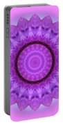 Purple Pink Kaleidoscope Portable Battery Charger