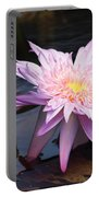 Purple Pink Yellow Waterlily... Portable Battery Charger
