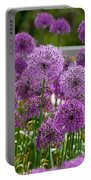 Purple Pom Poms Portable Battery Charger