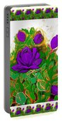 Purple Roses From The Garden 2 Portable Battery Charger