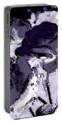 Purple Roses Portable Battery Charger