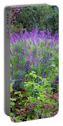 Purple Salvia In The Garden Portable Battery Charger